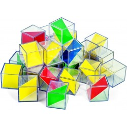 Cubes translucides 2 couleurs