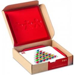 Cubes translucides 2 couleurs - cartes d'activités