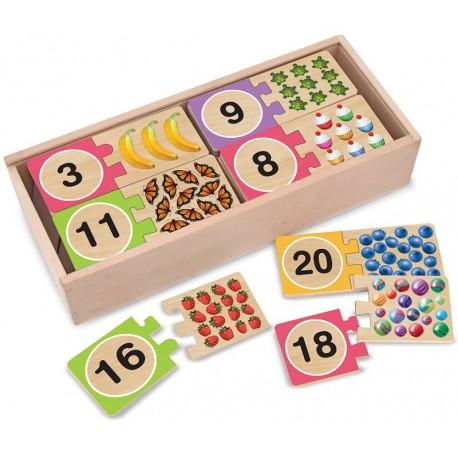 Puzzle auto-correcteur avec des nombres de 1 à 20