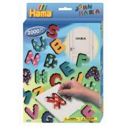 Perles Hama, lettres de l'alphabet