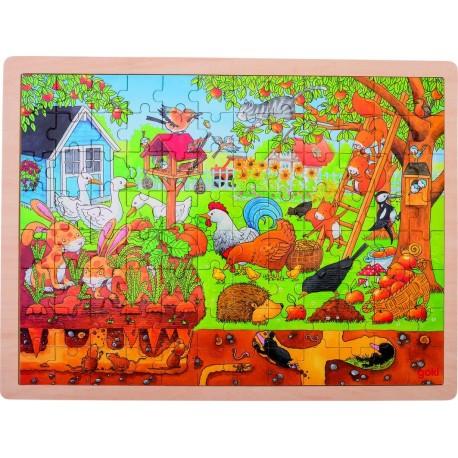 Puzzle bois Découverte du jardin
