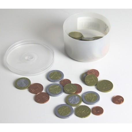 Ensemble de pièces de monnaie (euros) factices