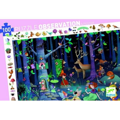 Forêt enchantée (puzzle 100 pièces)
