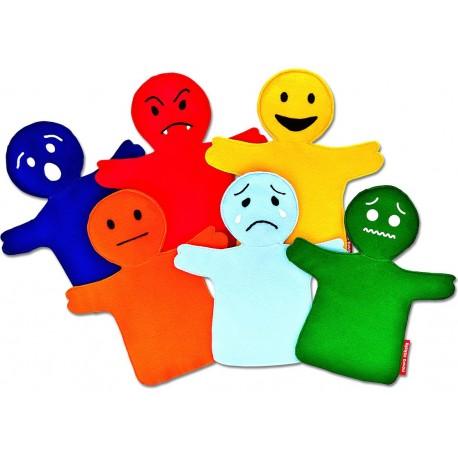 6 marionnettes émotions