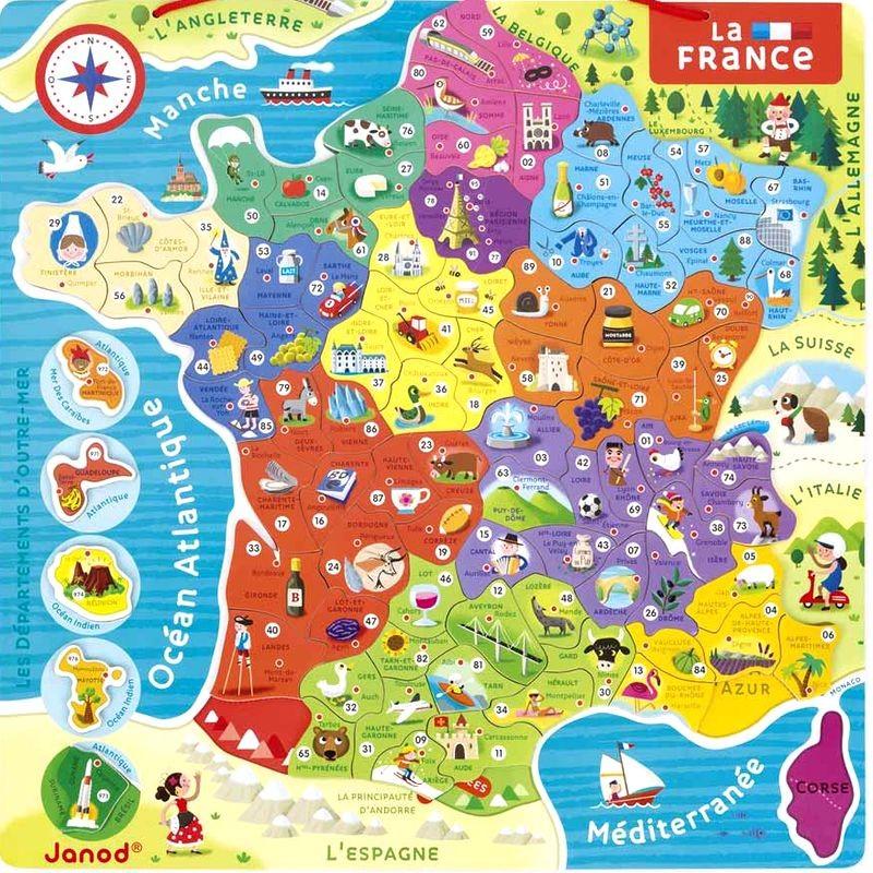 Carte Europe Janod.Puzzle Magnetique France Puzzle Janod De 93 Pieces Pour