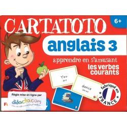 Cartatoto Anglais 3 - Les Verbes courants