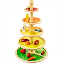Pyramide alimentaire en bois
