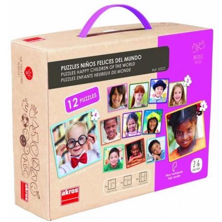 12 puzzles des enfants du monde