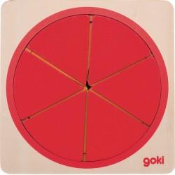 Cercle puzzle des fractions