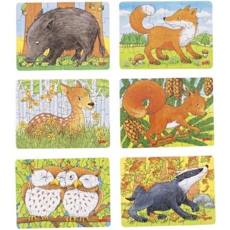Lot de 6 mini puzzles