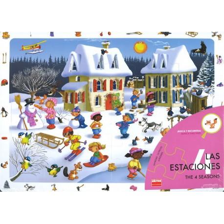 Set 4 puzzles - Les 4 saisons