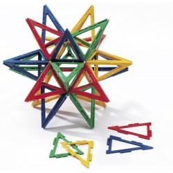 Set 60 triangles isocèles ajourés Polydron