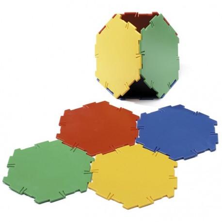 Set 20 hexagones Polydron