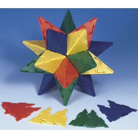 Set 60 triangles isocèles Polydron