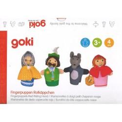 """4 marionnettes à doigt """"Le Petit Chaperon rouge"""""""
