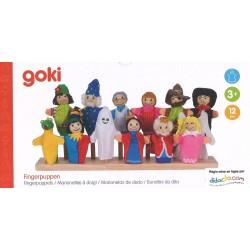 Set de 12 marionnettes à doigt