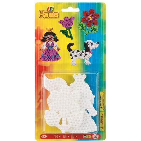 Perles Hama -  plaques chien, fleur, princesse