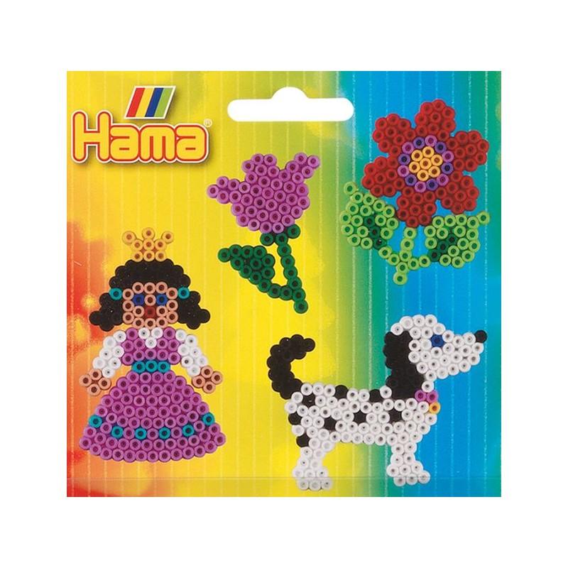 Plaques Pour Perles Hama Chien Fleur Princesse