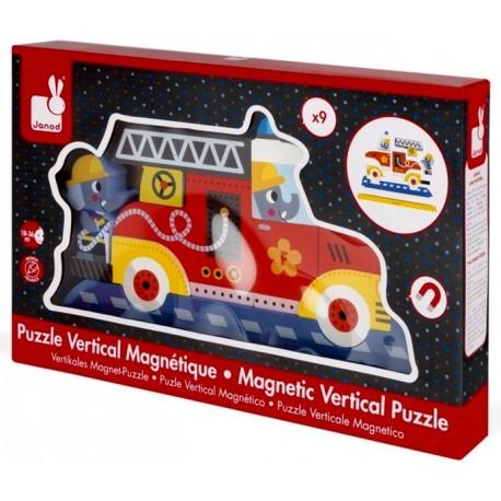 Puzzle vertical magnétique pompiers