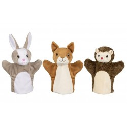 Marionnettes lapin, écureuil, hérisson