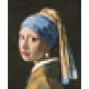 Sticker Poster - La Jeune Fille à la perle