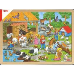 Puzzle visite à la ferme
