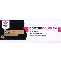 Domino dans un coffret en bois