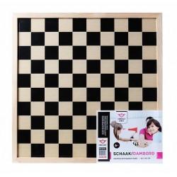 Plateau d'échecs et de dames en bois