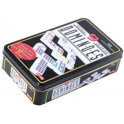 Dominos 1 à 9 dans une boîte en fer