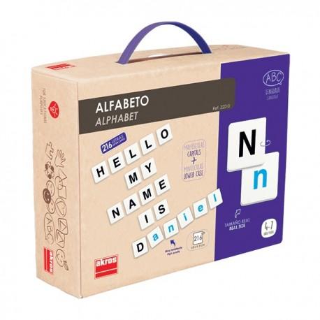 Alphabet avec 216 lettres