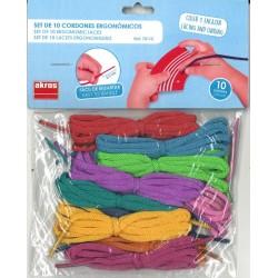 Lot de 10 lacets ergonomiques