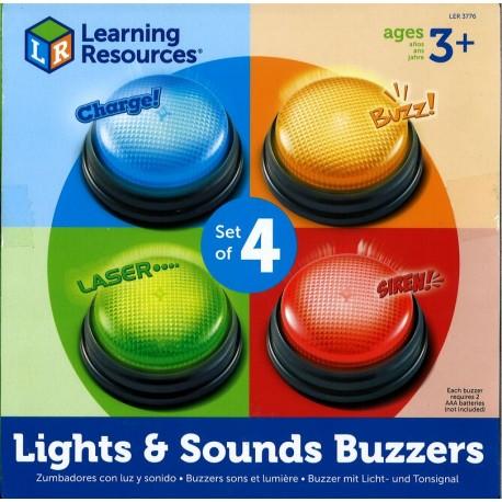 Lot de 4 buzzers sons et lumières