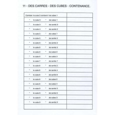 """Fichier 5 """"Réglettes, carrés et cubes au collège"""""""