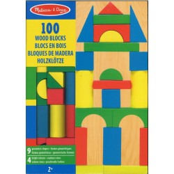 100 blocs de construction en bois