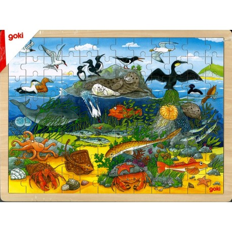 Puzzle Sur et sous l'eau
