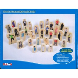 Figurines en bois métiers et personnages