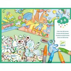 Coffret coloriage - Un monde à créer Animaux