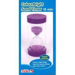 Sablier XXL violet - 15 mn