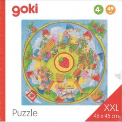 Puzzle XXL Nous plantons des fraises