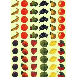 Gommettes fruits