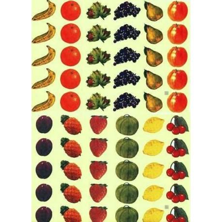 Gommettes fruits