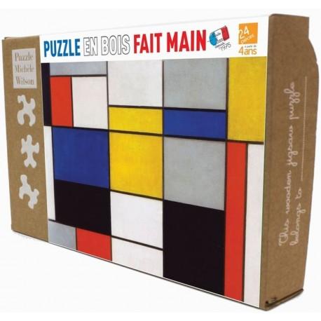 Puzzle Composition 1,2,3 de Mondrian