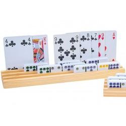 Porte-dominos, lot de 4