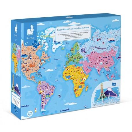 Puzzle éducatif géant Curiosités du Monde