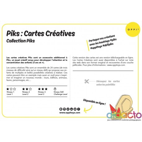Piks Cartes Créatives - Fiche pédagogique