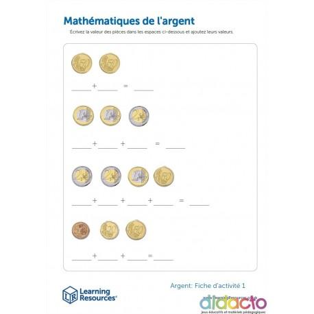 Mathématiques avec des euros - Fiche pédagogique