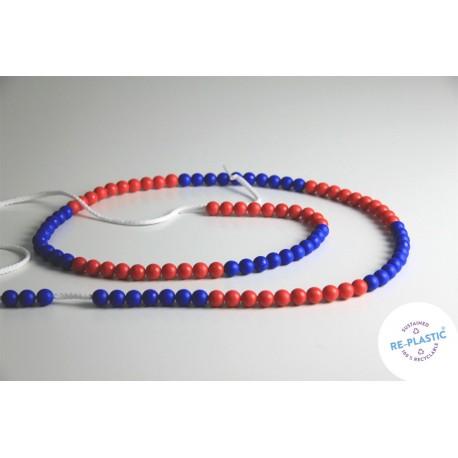 Chaîne de calcul rouge & bleu de 1 à 100
