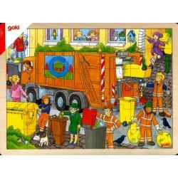 Puzzle camion poubelle