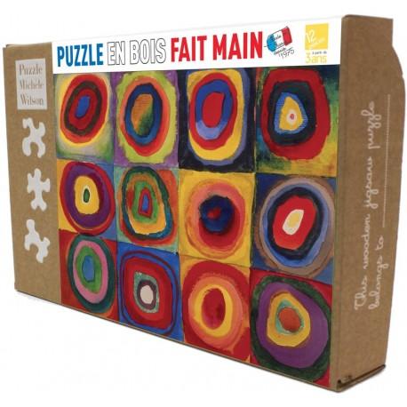 Puzzle Carrés avec cercles de Kandinsky