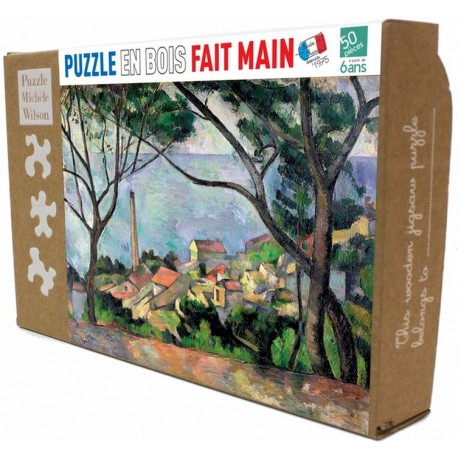 Puzzle Vue sur l'Estaque de Cezanne